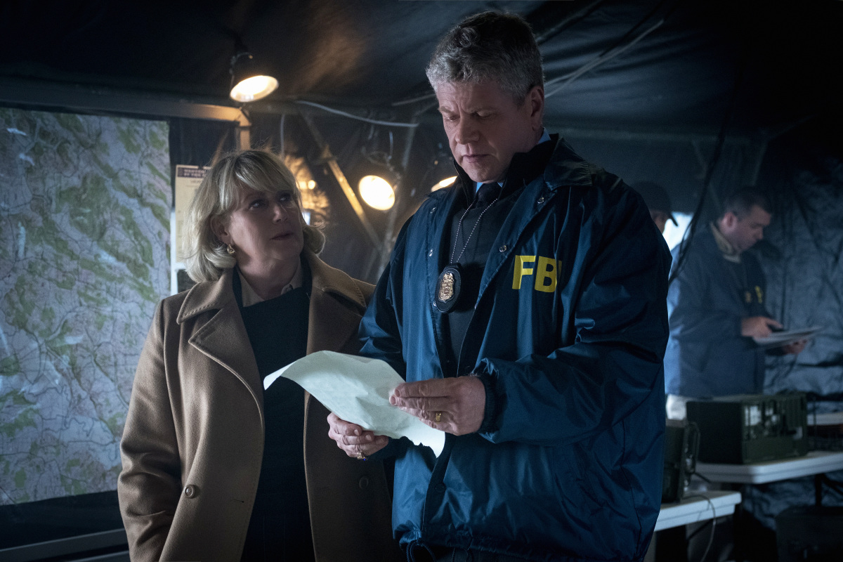 """""""Ghosts of Highway 20"""" - Clarice Starling and the VICAP team are deployed to Tennessee where the FBI is laying siege against a fringe militia group called """"The Statesmen,"""" on CLARICE, Thursday, Feb. 18 (10:00-11:00 PM, ET/PT) on the CBS Television Network.Pictured (l-r) Jayne Atkinson as Ruth Martin and Michael Cudlitz as Paul KrendlerPhoto: Brooke Palmer ©2020 CBS Broadcasting Inc. All Rights Reserved"""