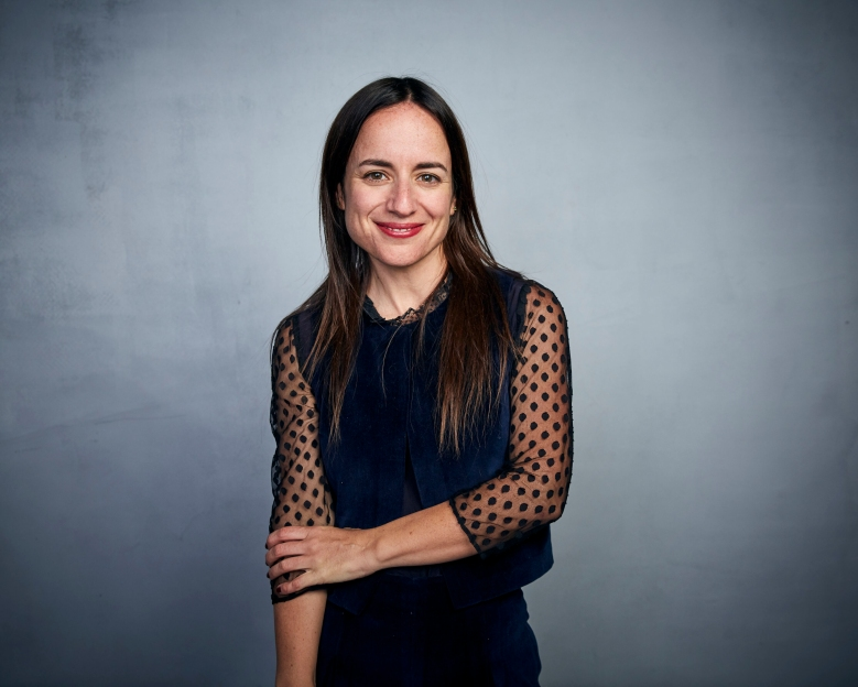 """Writer/director Maite Alberdi poses for a portrait to promote the film """"The Mole Agent"""" at the Music Lodge during the Sundance Film Festival on Saturday, Jan. 25, 2020, in Park City, Utah. (Photo by Taylor Jewell/Invision/AP)"""