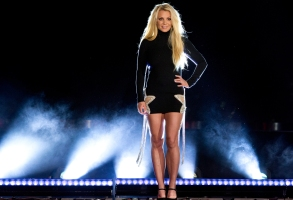 FILE - In this Thursday, Oct. 18, 2018, file photo, singer Britney Spears makes an appearance in front of the Park MGM hotel-casino in Las Vegas. Spears wants to be freed from her father. In a recent series of court maneuvers, Spears has sought greater say over her life and affairs, which for years have been under the control of a court conservatorship run mostly by her father, James Spears. (Steve Marcus/Las Vegas Sun via AP, File)