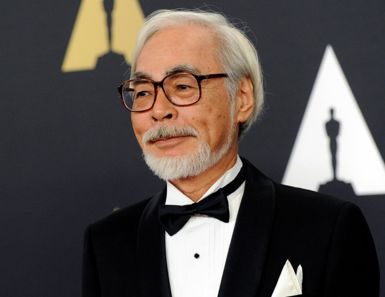 FILE - In this Nov. 8, 2014, file photo, Hayao Miyazaki arrives at the 6th annual Governors Awards in Los Angeles. The Academy Museum of Motion Pictures is set to open on April 30, 2020, five days after the 93rd Academy Awards. An inaugural exhibit will celebrate legendary Japanese animator Miyazaki. (Photo by Chris Pizzello/Invision/AP, File)