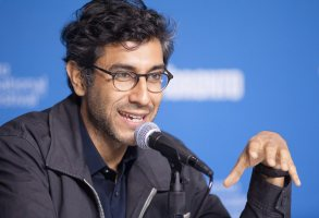 "Director Ramin Bahrani speaks during a press conference for ""99 Homes"" at the 2014 Toronto International Film Festival in Toronto on Tuesday, Sept. 9, 2014. (AP Photo/The Canadian Press, Hannah Yoon)"