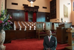 """""""The Black Church: This is Our Story, This is Our Song"""" premieres February 16 and 23, 2021 at 9/8c on PBS (check local listings) Caption: Host, Henry Louis Gates Jr. inside of Historic Ebenezer Baptist Church in Atlanta, GACredit: Courtesy of McGee MediaFor editorial use only in conjunction with the direct publicity or promotion of this program for a period of three years from the program's original broadcast date, unless otherwise noted. No other rights are granted. All rights reserved."""