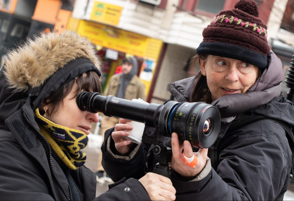 """Never Rarely Sometimes Always"" Cinematographer Hélène Louvart (with Director Eliza Hittman on the left)"