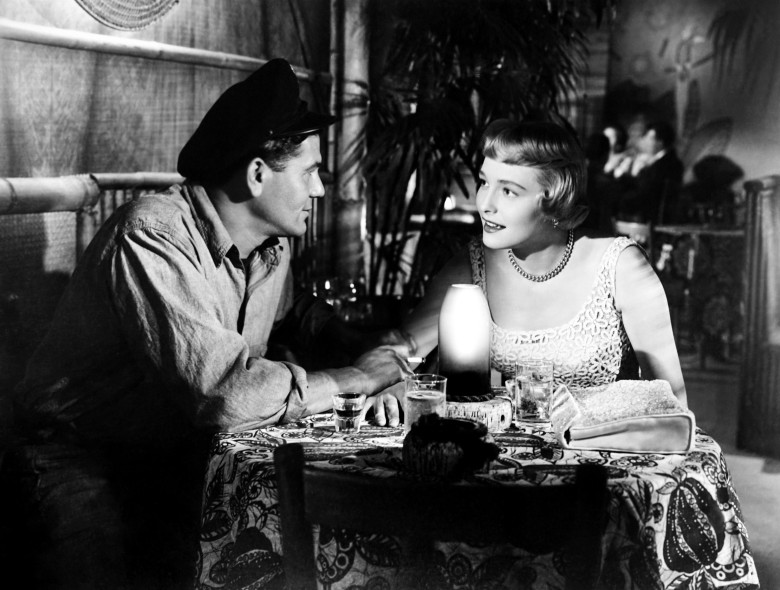 THE BREAKING POINT, from left, John Garfield, Patricia Neal, 1950