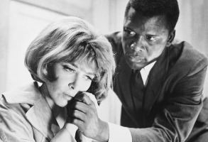 Sidney Poitier and Lee Grant