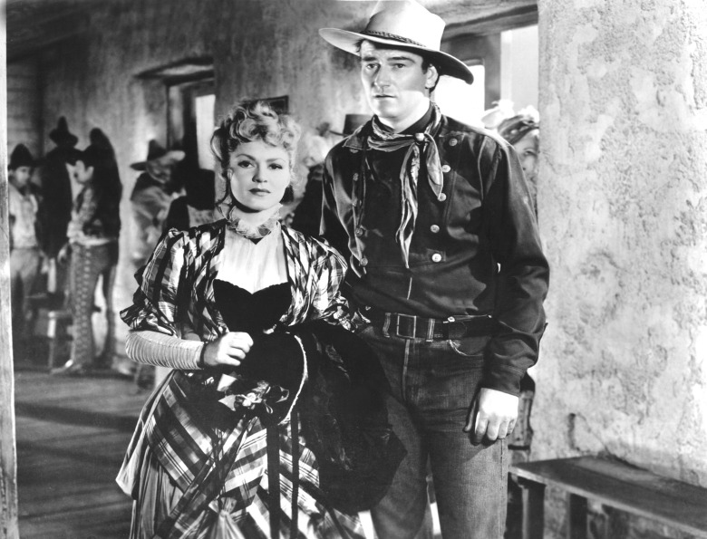 STAGECOACH, Claire Trevor, John Wayne, 1939. TM and Copyright (c) 20th Century Fox Film Corp. All rights reserved. Courtesy: Everett Collection.