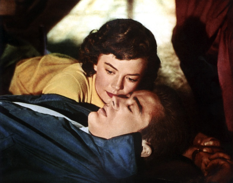 REBEL WITHOUT A CAUSE, top to bottom: Natalie Wood, James Dean, 1955