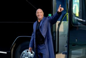"""Young Rock -- """"Working The Gimic"""" Episode 101 -- Pictured: Dwayne Johnson as Himself -- (Photo by: Frank Masi/NBC)"""