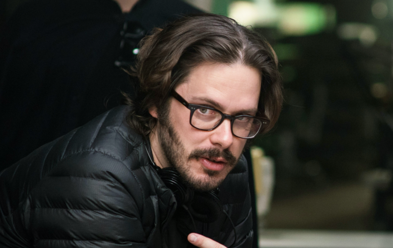 "Edgar Wright on the set of ""Baby Driver"""