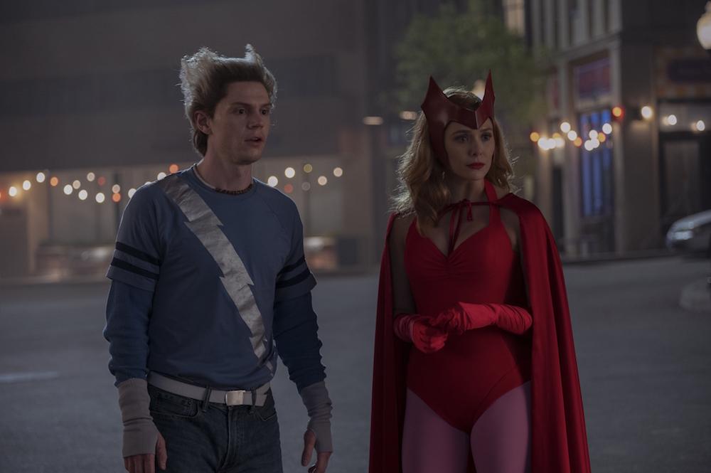 """Evan Peters and Elizabeth Olsen in """"WandaVision"""""""