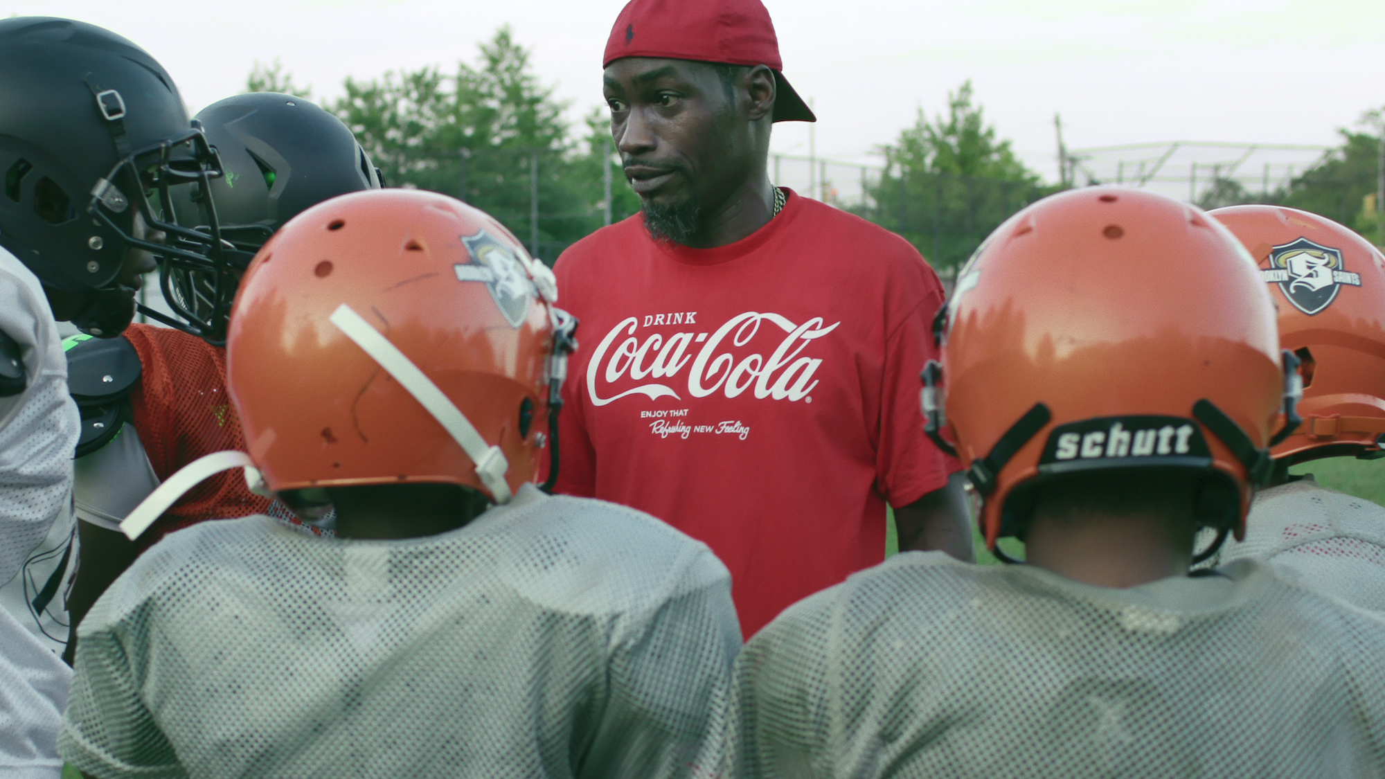 """Coach Vick (9U Coach and D-Lo's father) in episode 4 """"My Brother's Keeper"""" of We Are: The Brooklyn Saints S1. Cr. NETFLIX © 2021"""