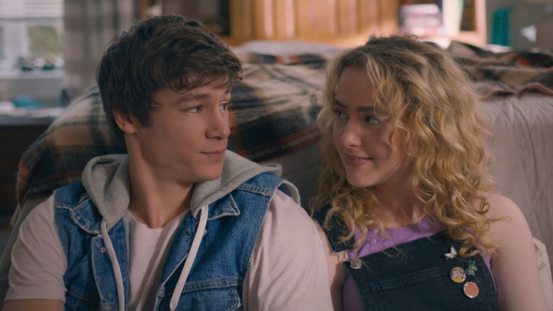 KYLE ALLEN as MARK and KATHRYN NEWTON as         MARGARET in THE MAP OF TINY PERFECT THINGS