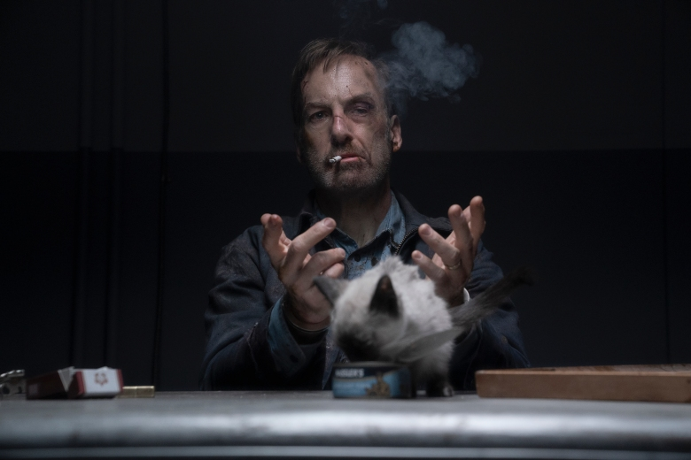 """Bob Odenkirk as Hutch Mansell in """"Nobody,"""" directed by Ilya Naishuller."""