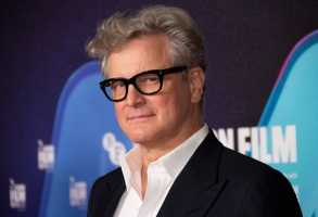 Actor Colin Firth poses for photographers during the photo call for the film 'Supernova', as part of London Film Festival at the BFI Southbank, in central London, Sunday, Oct. 11, 2020. (Photo by Joel C Ryan/Invision/AP)