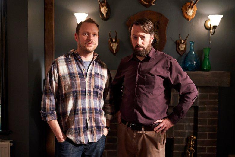 Robert Webb as Andrew, David Mitchell as Stephen - Back _ Season 2, Episode 2 - Photo Credit: Sundance Now