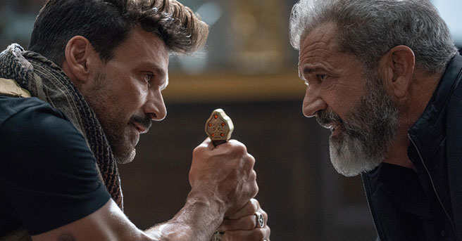 """Frank Grillo does battle with Mel Gibson in """"Boss Level."""""""