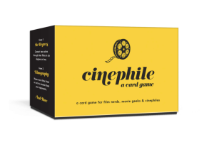 Any list of the Best Movie Trivia Games includes the Cinephile card game.