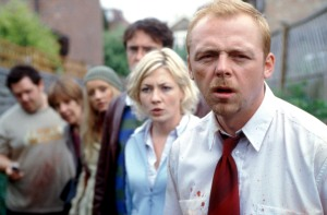SHAUN OF THE DEAD, Nick Frost, Penelope Wilton, Lucy Davis, Dylan Moran, Kate Ashfield, Simon Pegg, 2004, (c) Rogue Pictures/courtesy Everett Collection