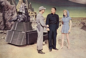 FORBIDDEN PLANET, Robby the Robot, Leslie Nielsen, Walter Pidgeon, Anne Francis, 1956.
