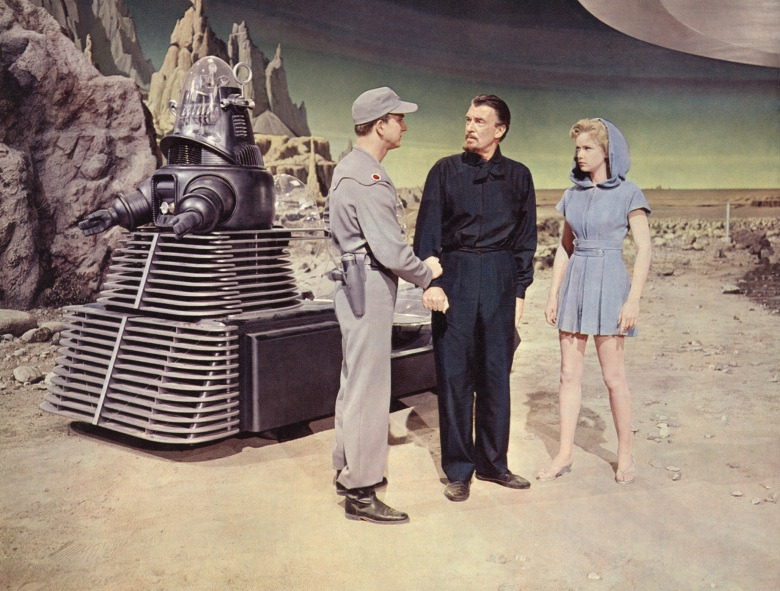 FORBIDDEN PLANET, Robby the Robot, Leslie Nielsen, Walter Pidgeon, Anne Francis, 1956.