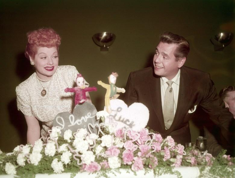 From left, Lucille Ball, Desi Arnaz, ca. mid-1950s