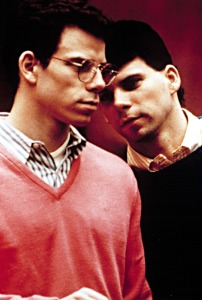 MENENDEZ BROTHERS, Erik and Lyle Menendez, at the 1993-1994 trial on Court TV, for the murders of their parents on August 20, 1989. A second trial from 1995.1996 would finally convict both brothers to life in prison, without parole.