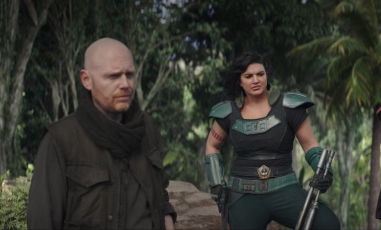 "Bill Burr and Gina Carano on ""The Mandalorian"""