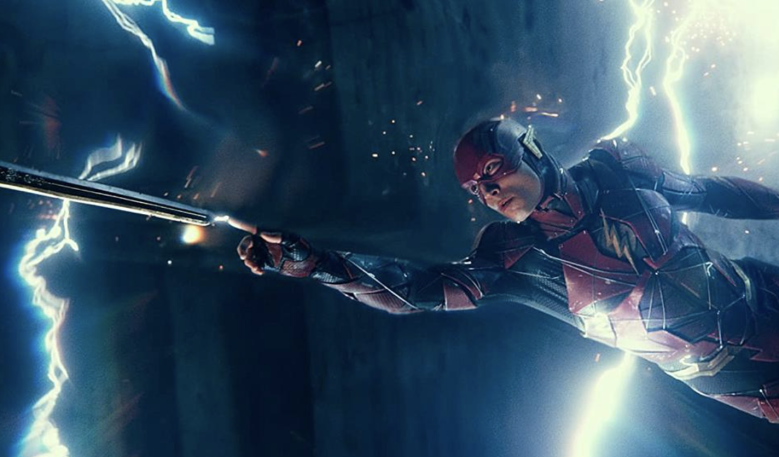 "Ezra Miller in ""Justice League"""