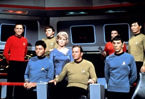 STAR TREK, James Doohan, DeForest Kelley, Walter Koenig, Majel Barrett, William Shatner, Nichelle Nichols, Leonard Nimoy, George Takei, 1966-1969