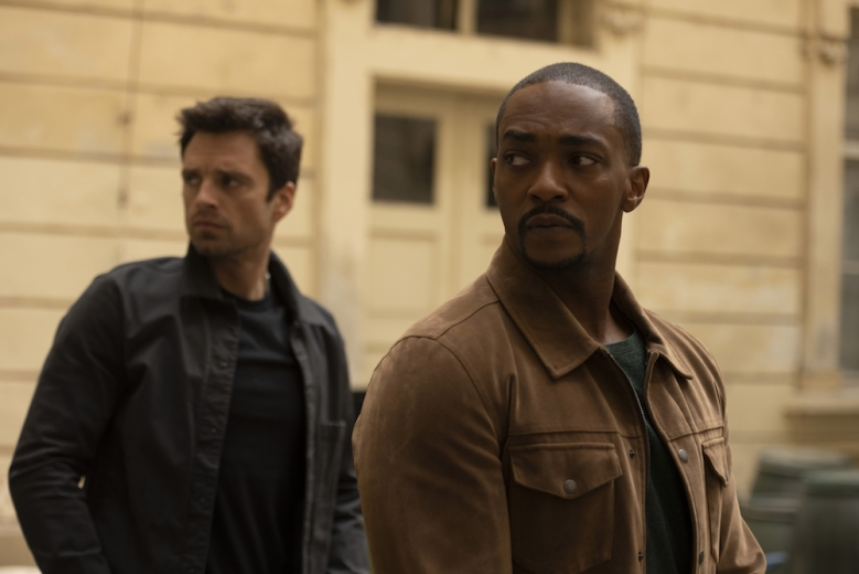 """Sebastian Stan and Anthony Mackie in """"The Falcon and the Winter Soldier"""""""