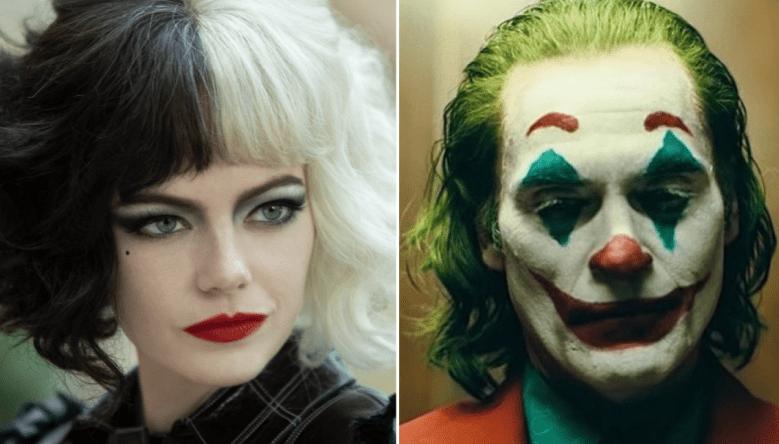 "Emma Stone in ""Cruella,"" Joaquin Phoenix in ""Joker"""