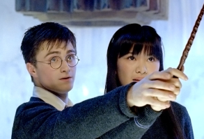 """Daniel Radcliffe and Katie Leung in """"Harry Potter and the Order of the Phoenix"""""""