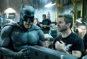 Ben Affleck as Batman, director Zack Snyder