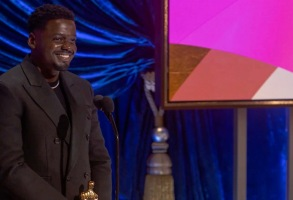 """Oscars 2021 Daniel Kaluuya THE OSCARS® - The 93rd Oscars will be held on Sunday, April 25, 2021, at Union Station Los Angeles and the Dolby® Theatre at Hollywood & Highland Center® in Hollywood, and international locations via satellite. """"The Oscars"""" will be televised live on ABC at 8 p.m. EDT/5 p.m. PDT and in more than 200 territories worldwide. (ABC/AMPAS)DANIEL KALUUYA"""