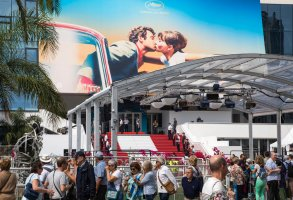 A view of the Palais des Festivals at the 71st international film festival, Cannes, southern France, Monday, May 7, 2018. (Photo by Vianney Le Caer/Invision/AP)