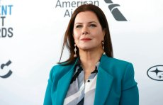 Marcia Gay Harden arrives at the Film Independent Spirit Awards in a tent in Santa Monica, Los Angeles, USA, on 23 February 2019. | usage worldwide Photo by: Hubert Boesl/picture-alliance/dpa/AP Images