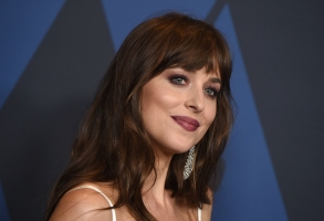 Dakota Johnson arrives at the Governors Awards on Sunday, Oct. 27, 2019, at the Dolby Ballroom in Los Angeles. (Photo by Jordan Strauss/Invision/AP)