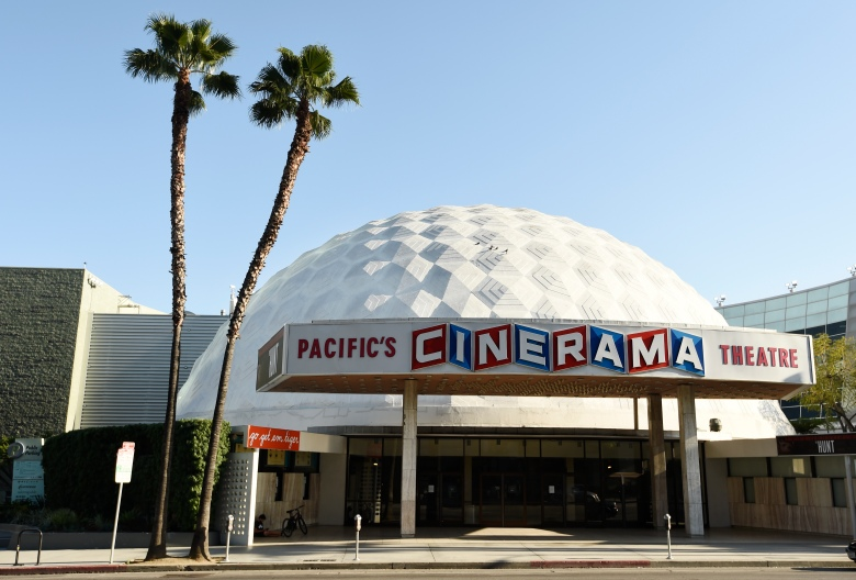 The Cinerama Dome is pictured, Tuesday, April 28, 2020, in Los Angeles. (AP Photo/Chris Pizzello)