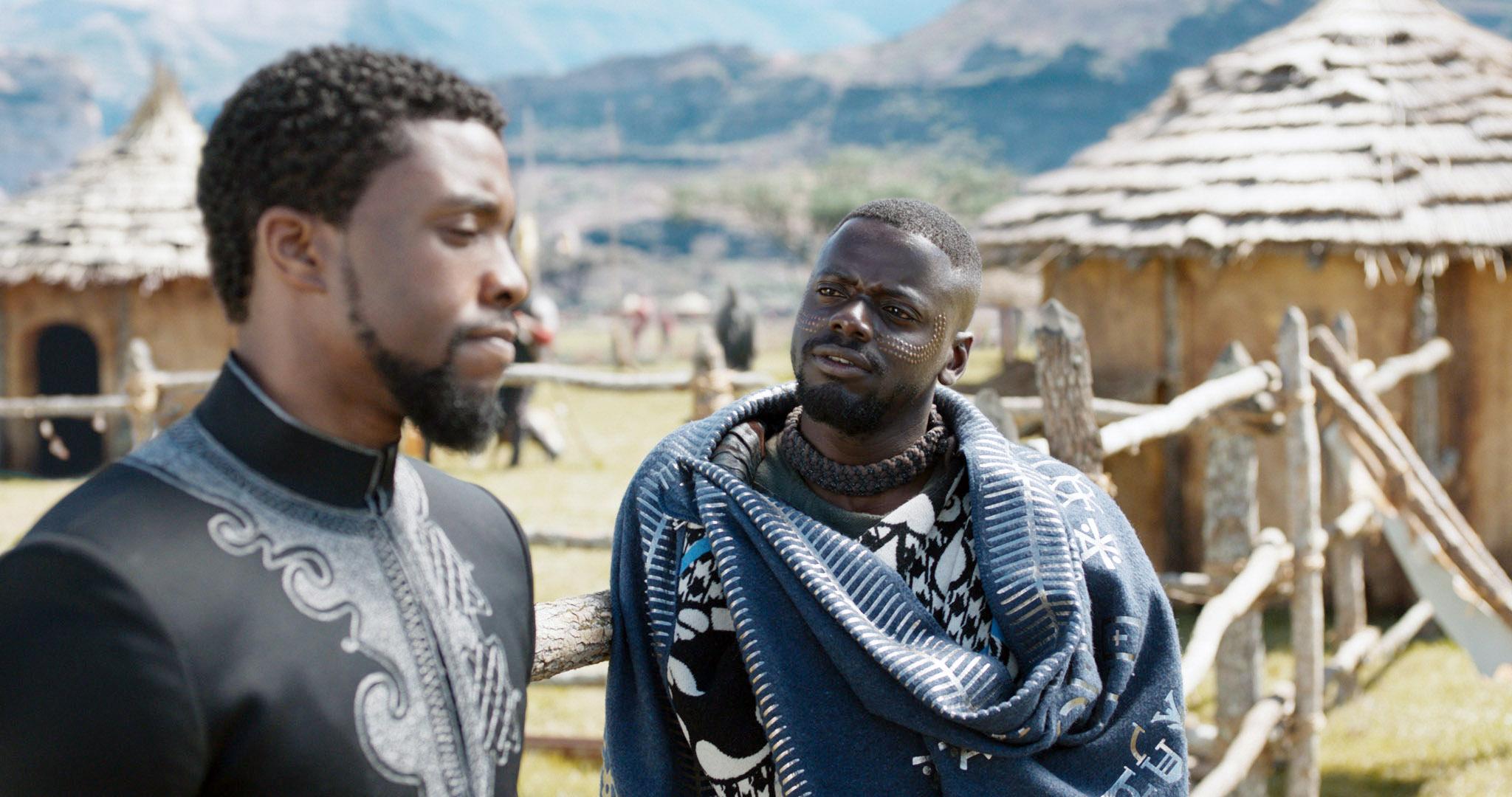 BLACK PANTHER, Daniel Kaluuya, Chadwick Boseman