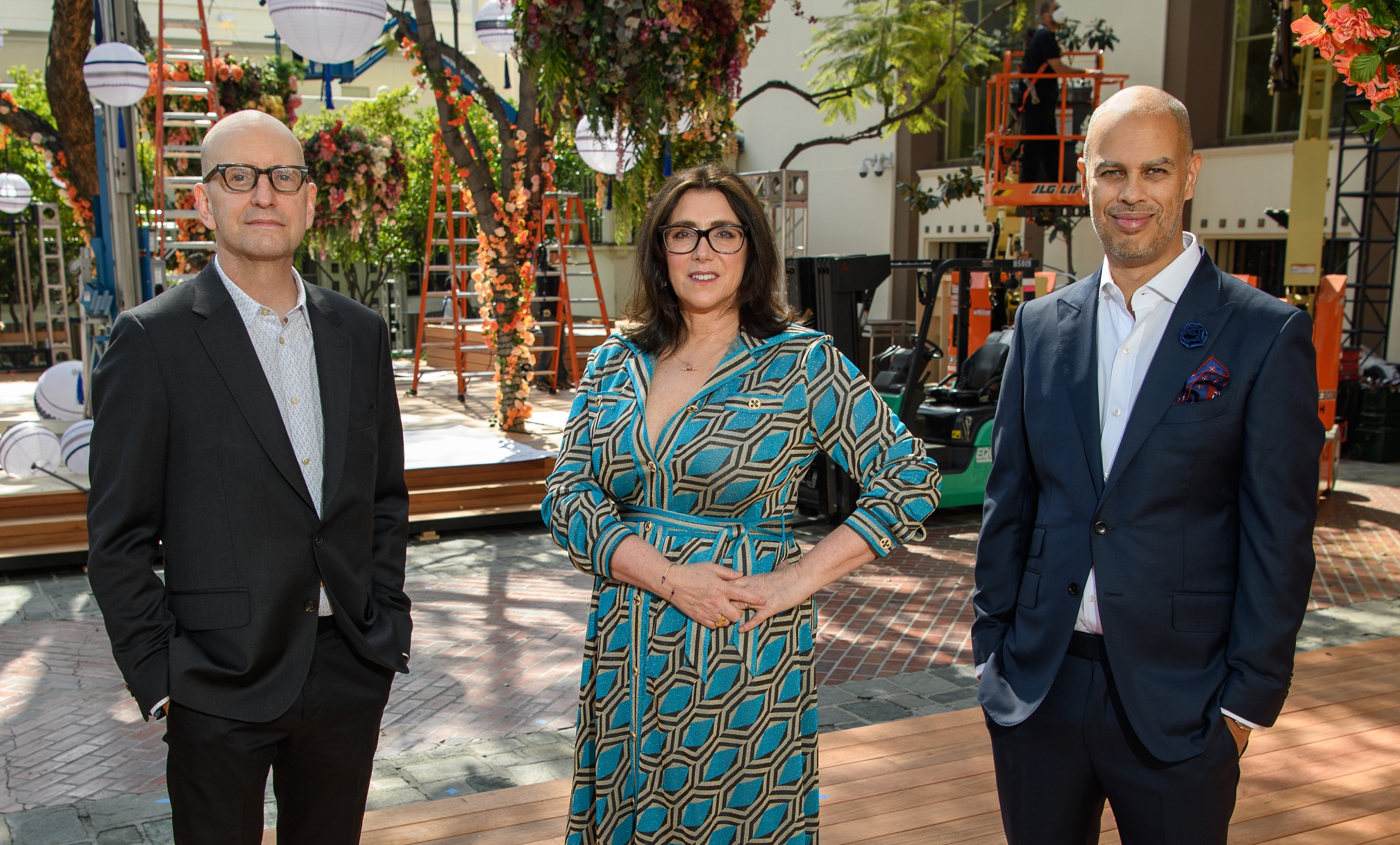 Steven Soderbergh, Stacey Sher, and Jesse Collins