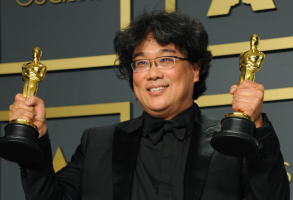 Bong Joon Ho at the 2020 Oscars