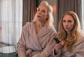 """Hannah Waddingham and Juno Temple in """"Ted Lasso"""" Apple TV+"""