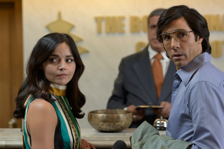 WARNING: Embargoed for publication until 00:00:01 on 12/01/2021 - Programme Name: The Serpent - TX: n/a - Episode: n/a (No. 4) - Picture Shows:  Monique/Marie-Andrée Leclerc (JENNA COLEMAN), Laxman (DARSHAN JARIWALLA), Charles Sobhraj (TAHAR RAHIM) - (C) Mammoth Screen Ltd - Photographer: Roland Neveu