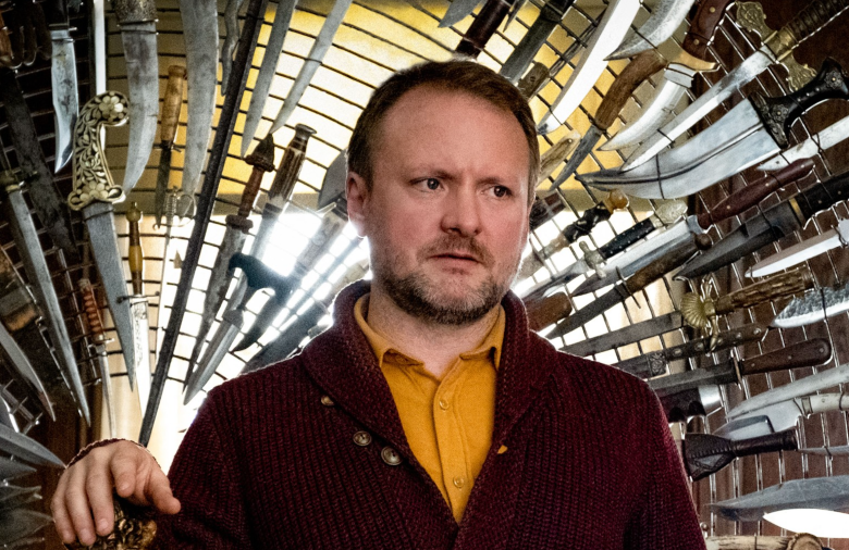 """Rian Johnson on the set of """"Knives Out"""""""