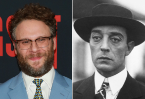 Seth Rogen and Buster Keaton