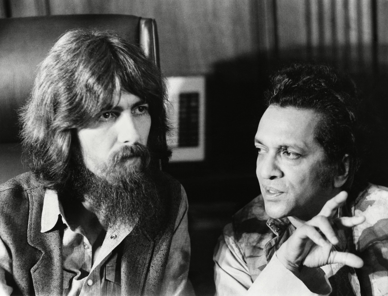 George Harrison and Ravi Shankar in