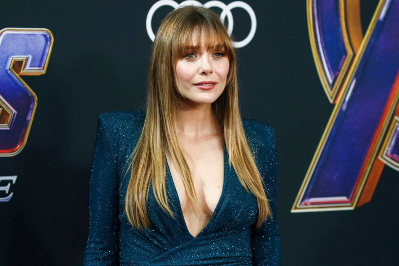 LOS ANGELES, CALIFORNIA, USA - APRIL 22: Actress Elizabeth Olsen wearing Alexandre Vauthier arrives at the World Premiere Of Walt Disney Studios Motion Pictures and Marvel Studios' 'Avengers: Endgame' held at the Los Angeles Convention Center on April 22, 2019 in Los Angeles, California, United States. (Photo by Xavier Collin/Image Press Agency/Sipa USA)(Sipa via AP Images)