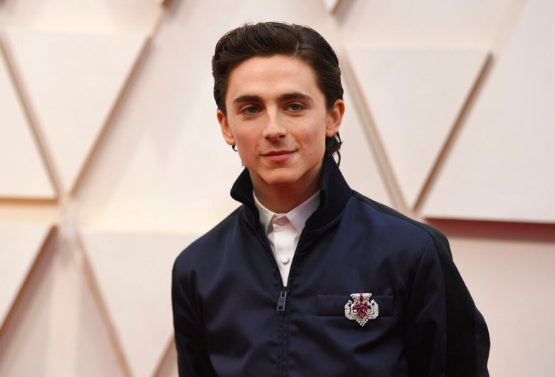 Timothee Chalamet arrives at the Oscars on Sunday, Feb. 9, 2020, at the Dolby Theatre in Los Angeles. (Photo by Richard Shotwell/Invision/AP)