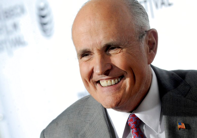 Photo by: Dennis Van Tine/STAR MAX/IPx 2021 4/29/21 Rudy Giuliani's apartment searched in Federal Investigation. STAR MAX File Photo: 2/15/15 Mayour Giuliani at the SNL 40th Anniversary Celebration. (NYC)