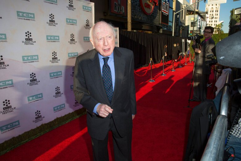 """Norman Lloyd arrives at the 2015 TCM Classic Film Festival Opening Night Gala """"The Sound Of Music"""" at TCL Chinese Theatre on Thursday, March 26, 2015 in Los Angeles.(Photo by Rich Fury/Invision/AP)"""